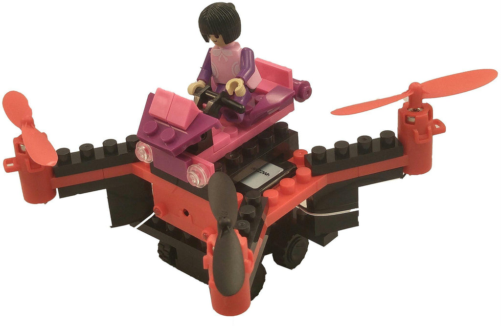 DIY Building Block Fly n Drive Girl Power Drone