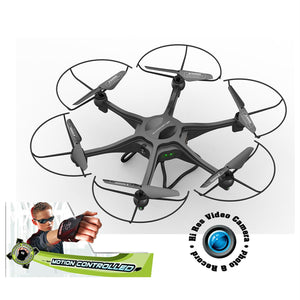 "Adventurer 19"" Motion Control Drone w-Hi Res Video Camera and 4GB SD Card"