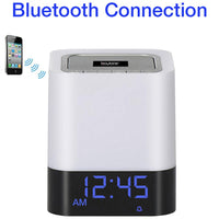 Boytone BT-84CB Portable FM Radio Alarm Clock Wireless Bluetooth 4.1 Speaker, 3-Way