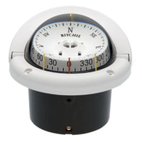 Ritchie HF-743W Helmsman Compass - Flush Mount - White