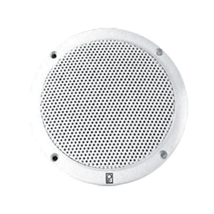 Poly-planar 6 2-way Coax-integral Grill Marine Speaker - (pair) White