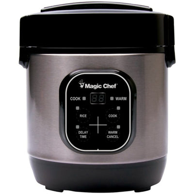 Magic Chef(R) MCSRC03ST 3-Cup Stainless Steel Rice Cooker