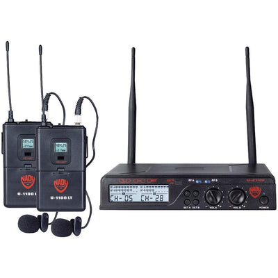 Nady Uhf Dual 100-channel Wireless Lavalier Handheld Microphone System NDYU2100LTOAB