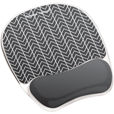 Fellowes Photo Gel Mouse Pad Wrist Rest With Microban FLW9549901