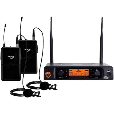 Nady Dual-transmitter Digital Wireless Microphone System (2 Digital Lt Lm-14 And O Lapel Microphones) NDYDW22LTANY