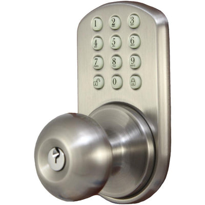 Morning Industry Inc Touchpad Electronic Doorknob (satin Nickel) MIYHKK01SN