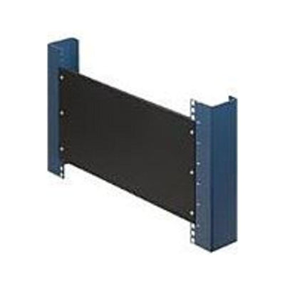 Rack Solutions 1U Filler Panel with Stability Flanges - Steel - Black - 1 Pack