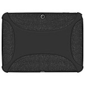 Amzer AMZ96101 Rugged Silicone Jelly Skin Case for Samsung Galaxy Tab 3 10.1-inch - Black - Textured - Silicone
