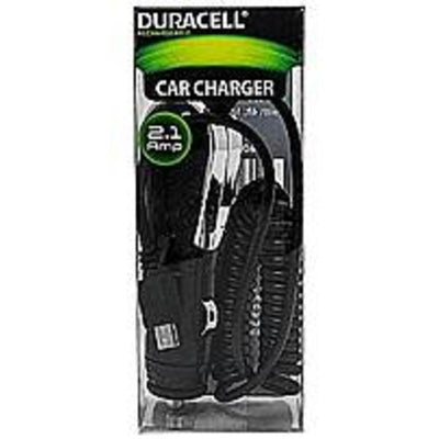 Duracell LE2248 2.1 Amp Micro USB Car Charger - Black
