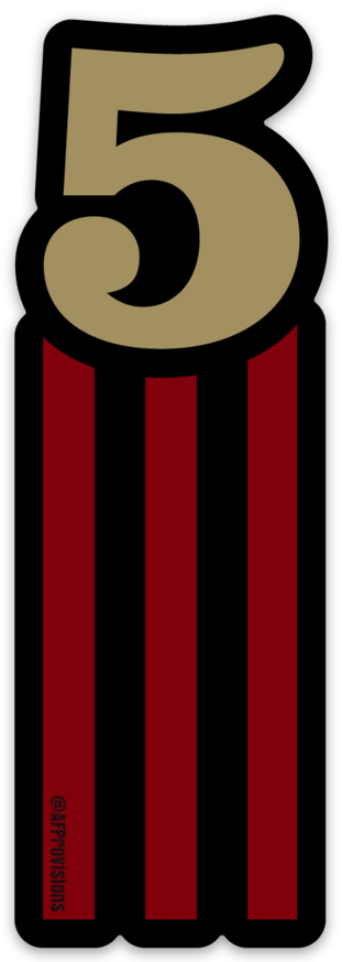 5 STRIPES VERTICAL - MAGNET