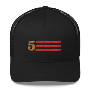 5 STRIPES (Horizontal) - RETRO TRUCKER HAT