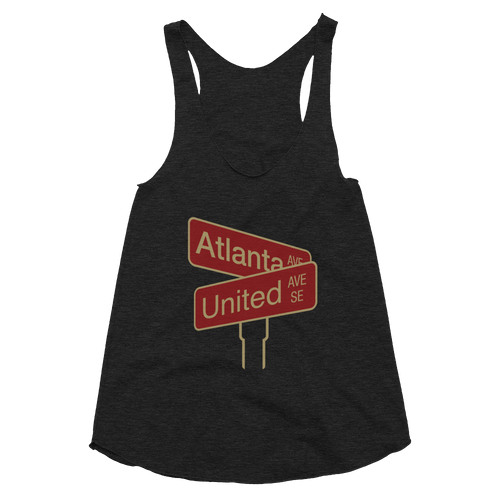 ATLANTA UNITED INTERSECTION - Women's Tri-Blend Racerback Tank