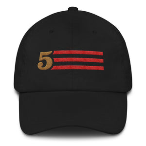 5 STRIPES - HORIZONTAL (Black) DAD HAT