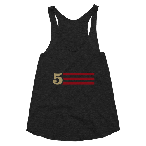 5 STRIPES (Horizontal) - Women's Tri-Blend Racerback Tank