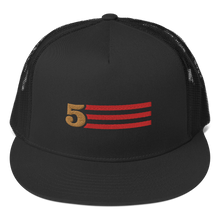 Load image into Gallery viewer, 5 Stripes (Horizontal) Trucker Cap