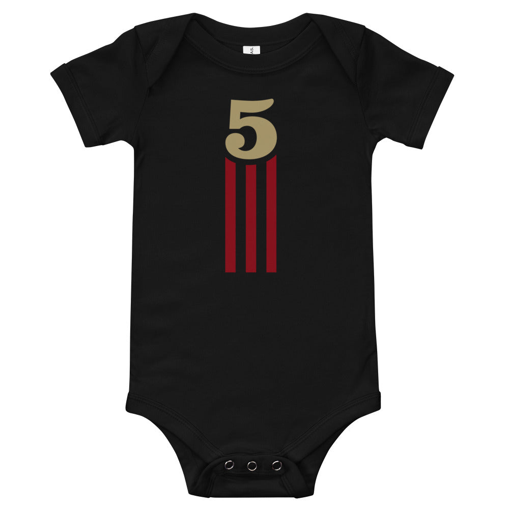 5 STRIPES - ONESIE (Black)