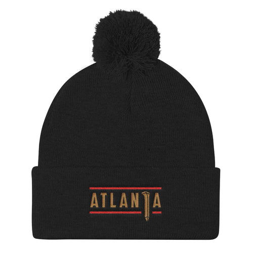 ATLANTA SPIKE - BEANIE WITH POM (Black)