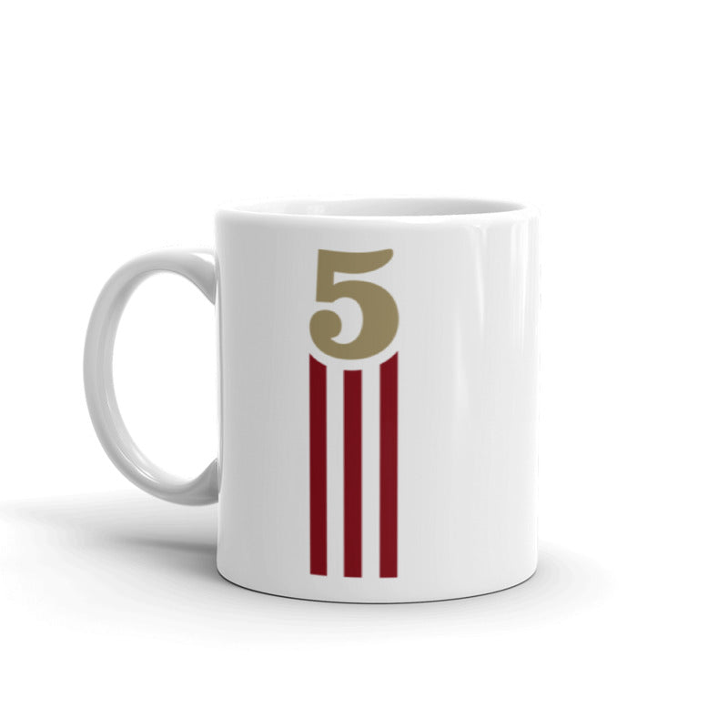 5 STRIPES - MUG (Glossy White)