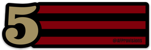 5 STRIPES HORIZONTAL - DECAL