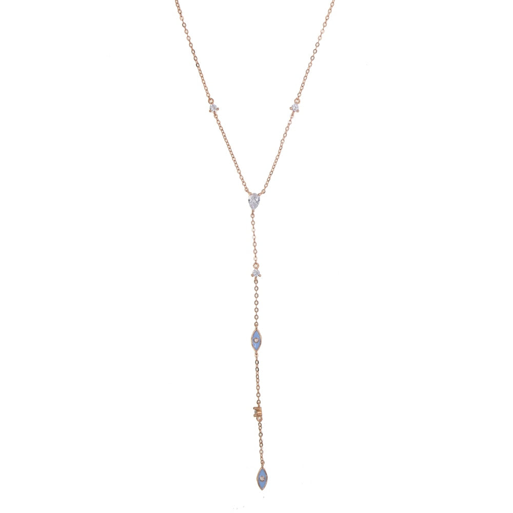 Goddess Drop Lariat Necklace