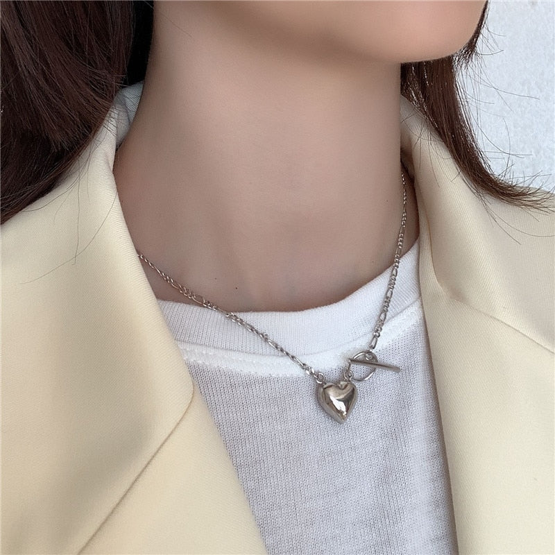 Solid Heart of Gold -  925 Sterling Silver