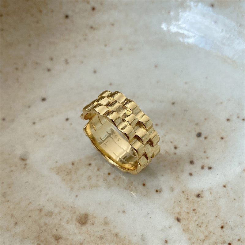 Just Watch Me Gold Ring - 925 Sterling Silver