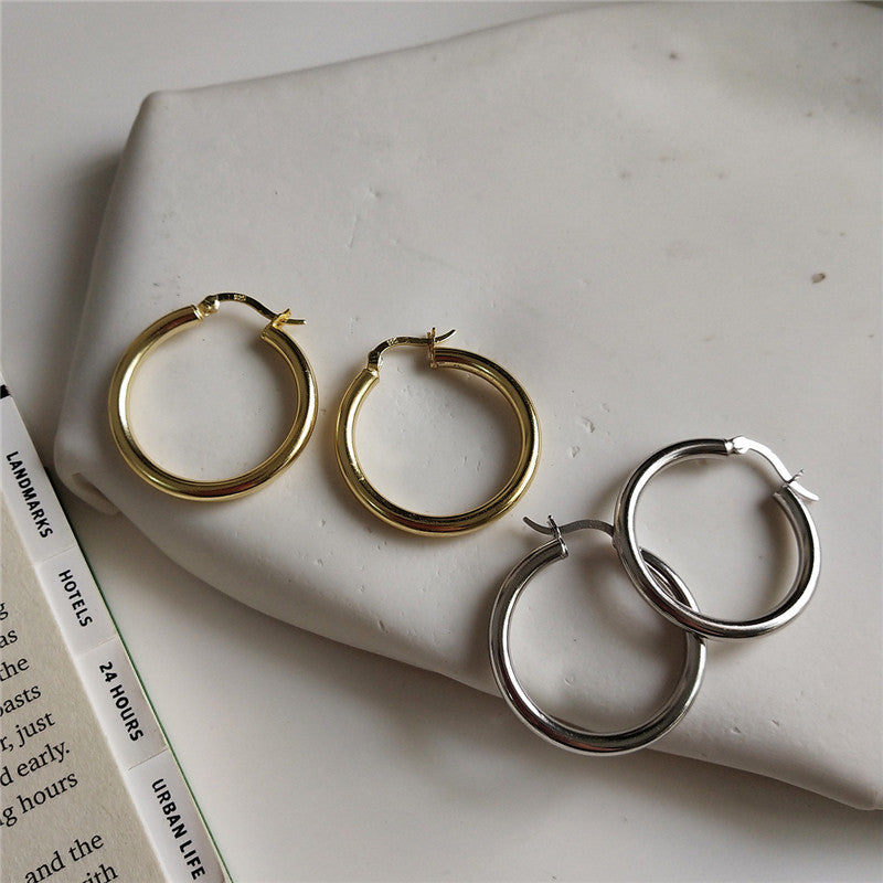 Classy AF Hoops - Sterling Silver Earrings