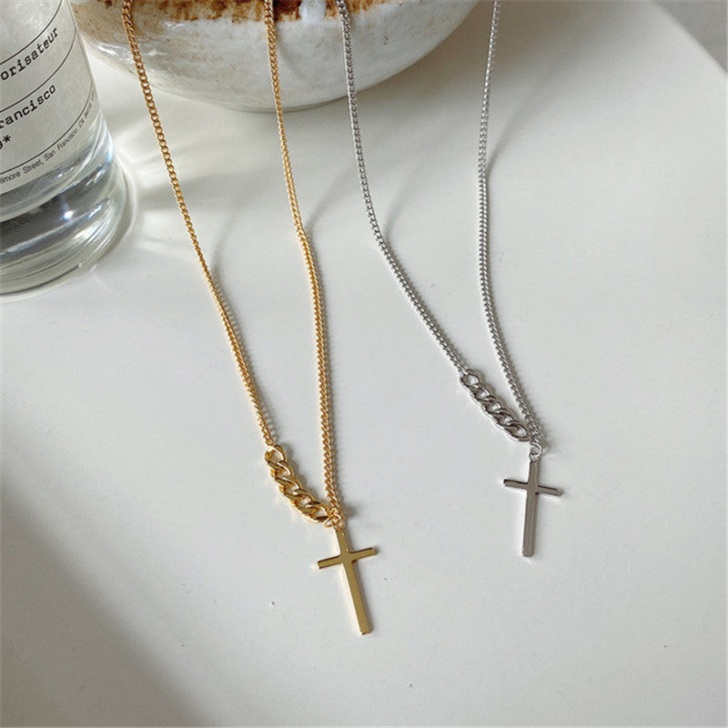Cross = Love - 925 Sterling Silver and 18K gold plated