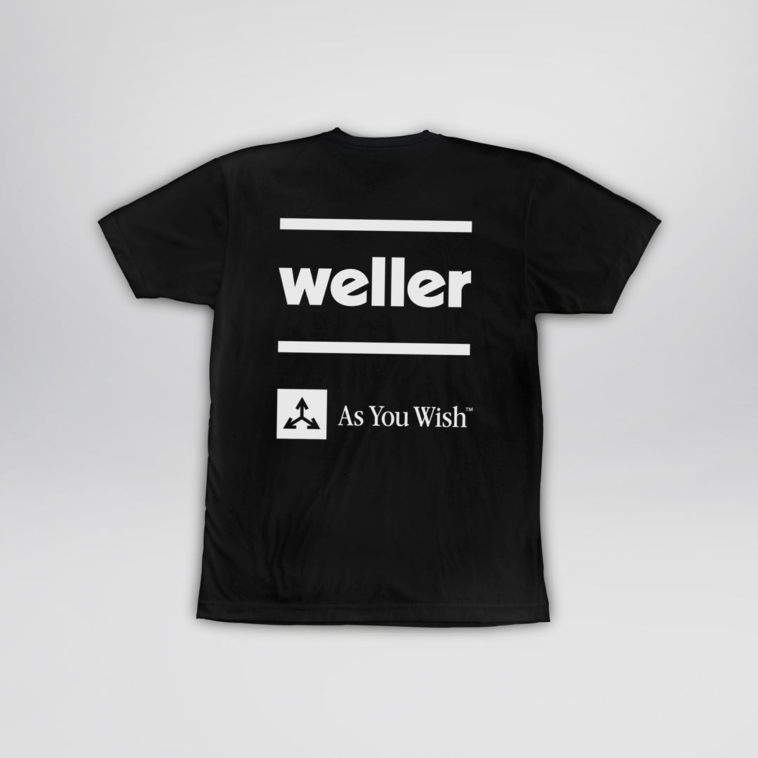 Weller Logo Premium Sueded Blend Tee - Black