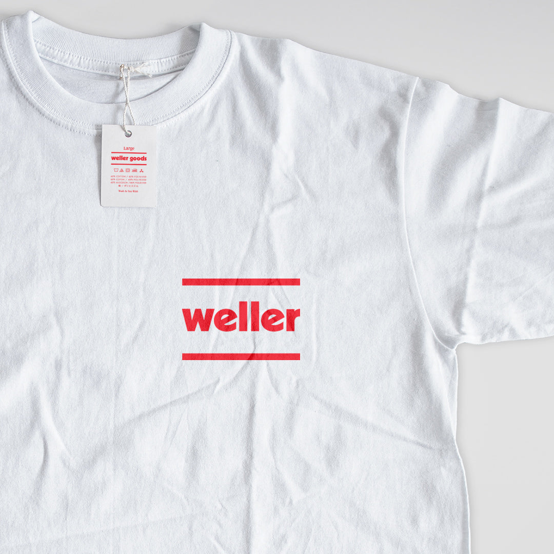 Weller Logo Premium Sueded Blend Tee - White