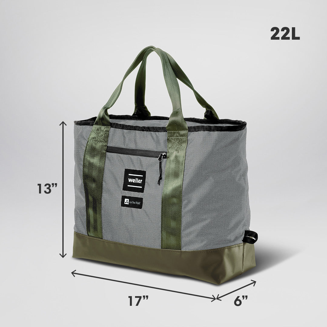 The Catchall Tote Bag - Grey/Olive