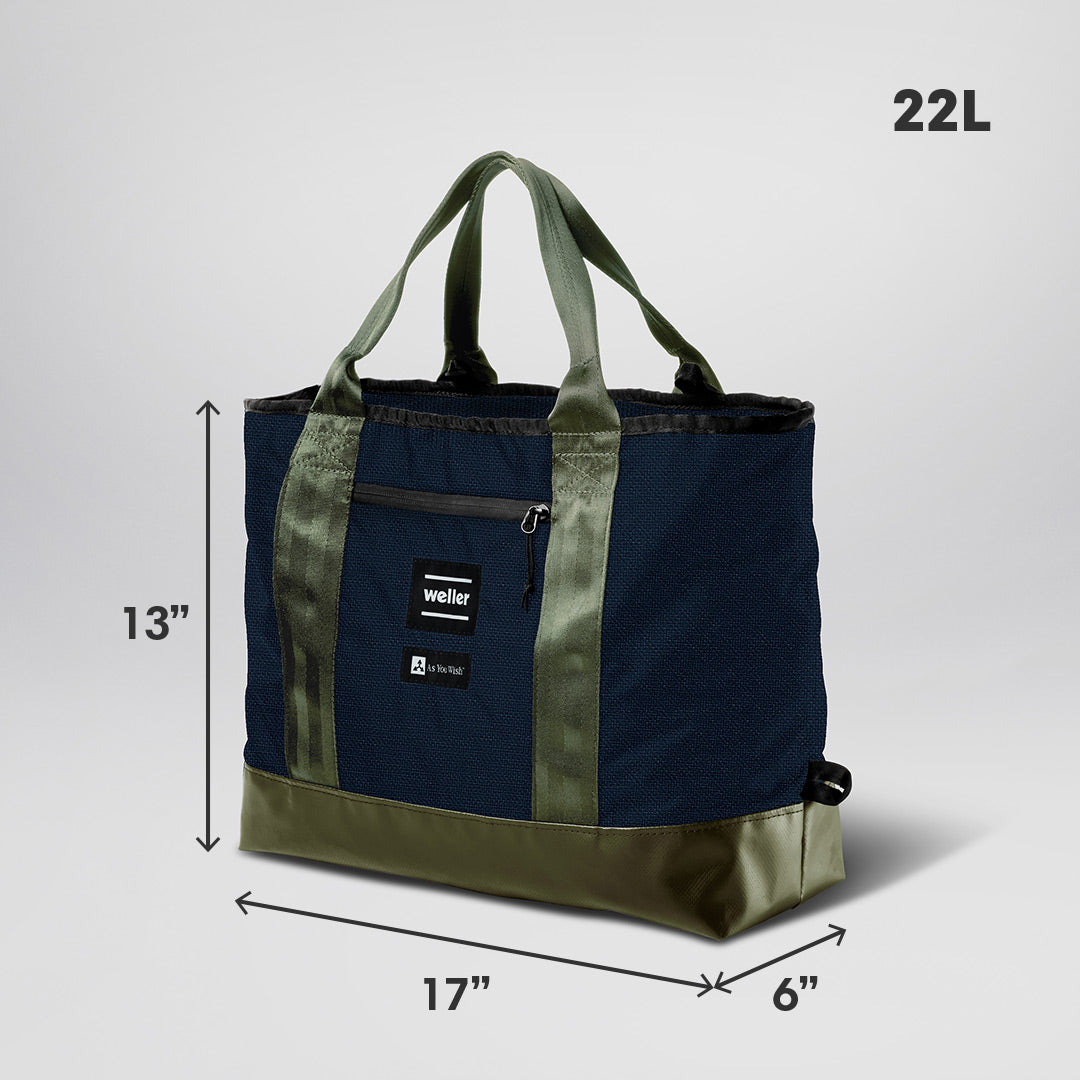 The Catchall Tote Bag - Navy/Olive