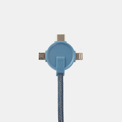 Lithium CC 3-in-1 Charging Cable-Power-Steel Blue-XACTLY Life
