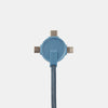 Take 20% Off Lithium CC 3-in-1 Charging Cable with Bag purchase-Power-Steel Blue-XACTLY Life
