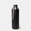 Hydrogen - 20 oz Stainless Steel Dual Opening Bottle-Water Bottles-Black-XACTLY Life