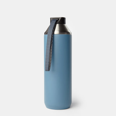 Hydrogen - 20 oz Stainless Steel Dual Opening Bottle-Water Bottles-Steel Blue-XACTLY Life
