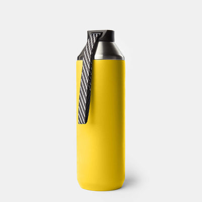 Hydrogen - 20 oz Stainless Steel Dual Opening Bottle-Water Bottles-Yellow-XACTLY Life