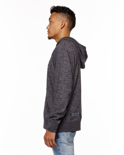 """XACTLY Zip-up"" - Charcoal Hoodie"
