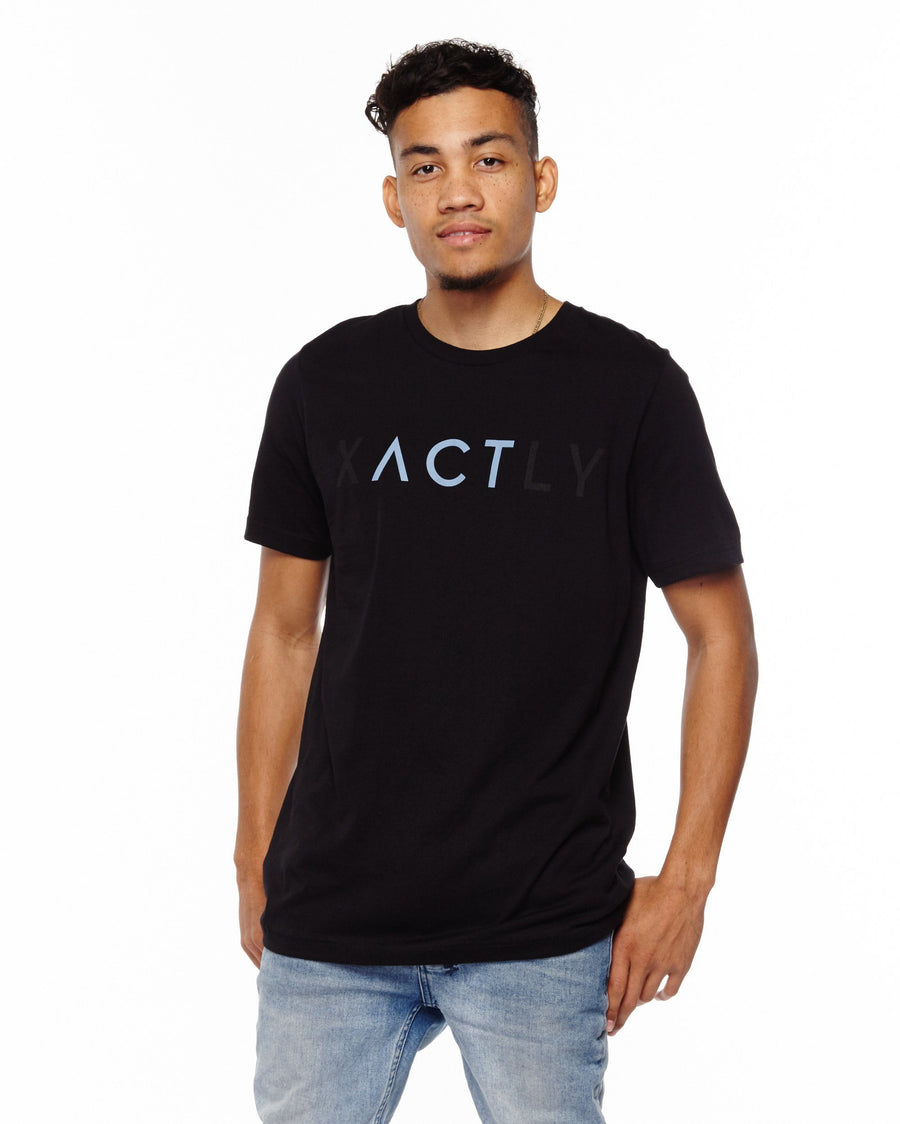 xactly.act.blue.logo.unisex.jersey.poly.short.sleeve.tshirt.