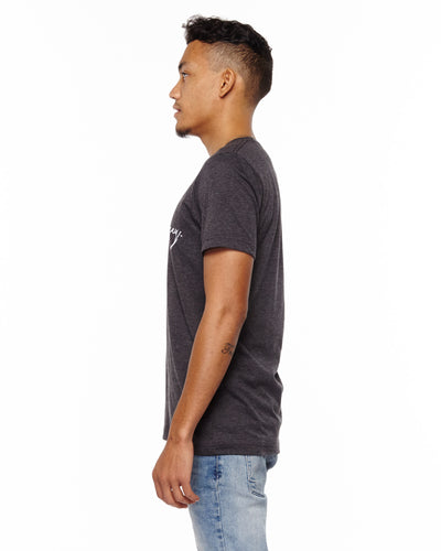 """Find Your Journey"" Dark Grey Heather Unisex T-Shirt"