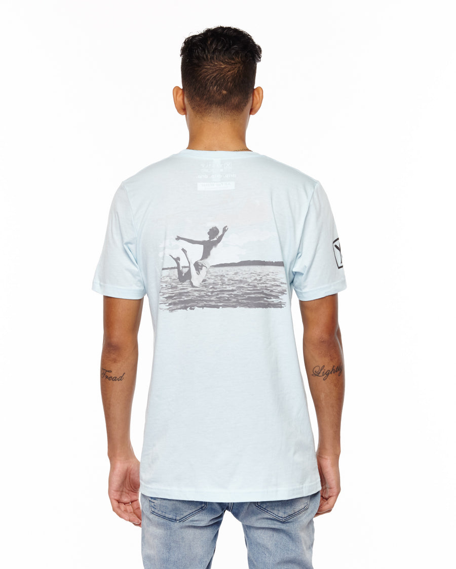 xactly.drip.lake.jumper.graphic.light.blue.logo.unisex.jersey.poly.short.sleeve.tshirt.