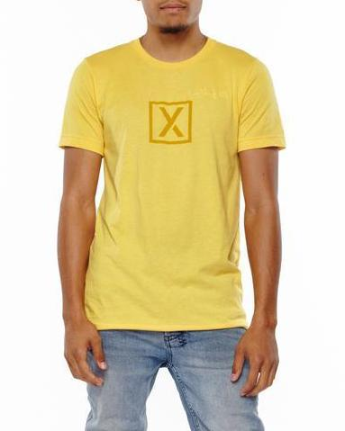xactly.life.surf.graphic.logo.yellow.golden.unisex.cotton.short.sleeve.poly.tshirt.