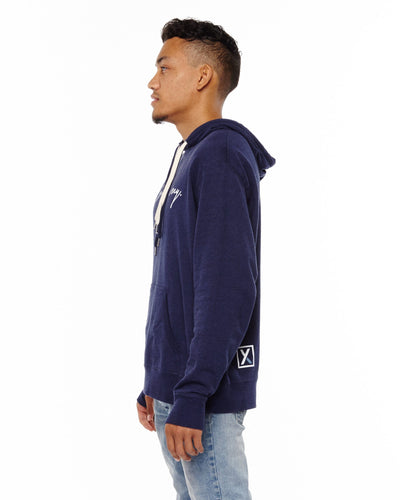 """Find Your Journey"" Unisex Blue Pullover Hoodie"