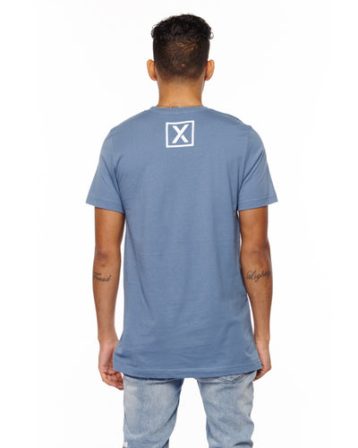 """Find Your Journey"" Unisex Steel Blue T-Shirt-T-Shirts-XACTLY Life"