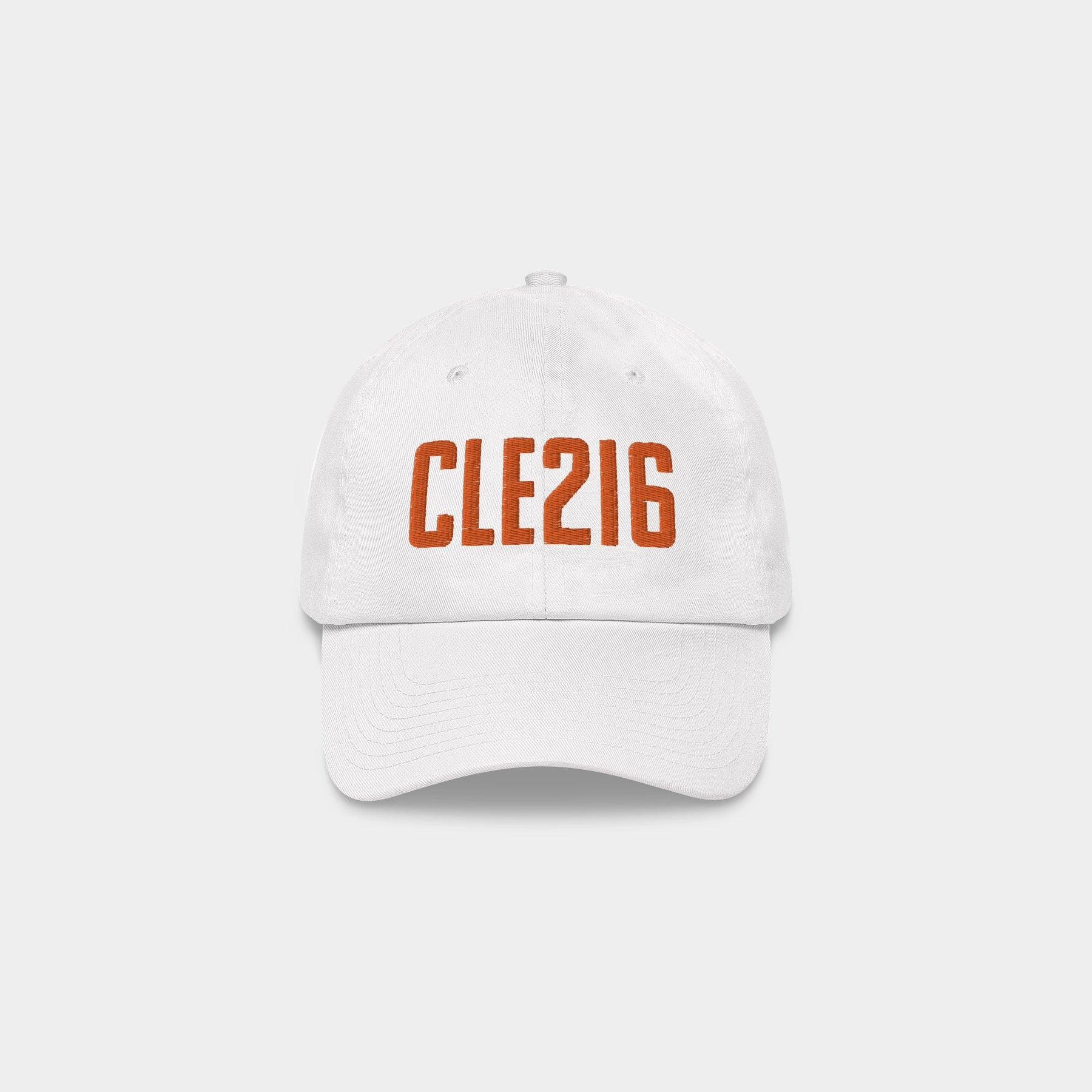 CLE216 Classic Dad Hat, White