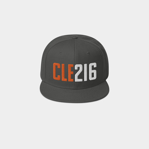 CLE216 Classic Snapback, Charcoal