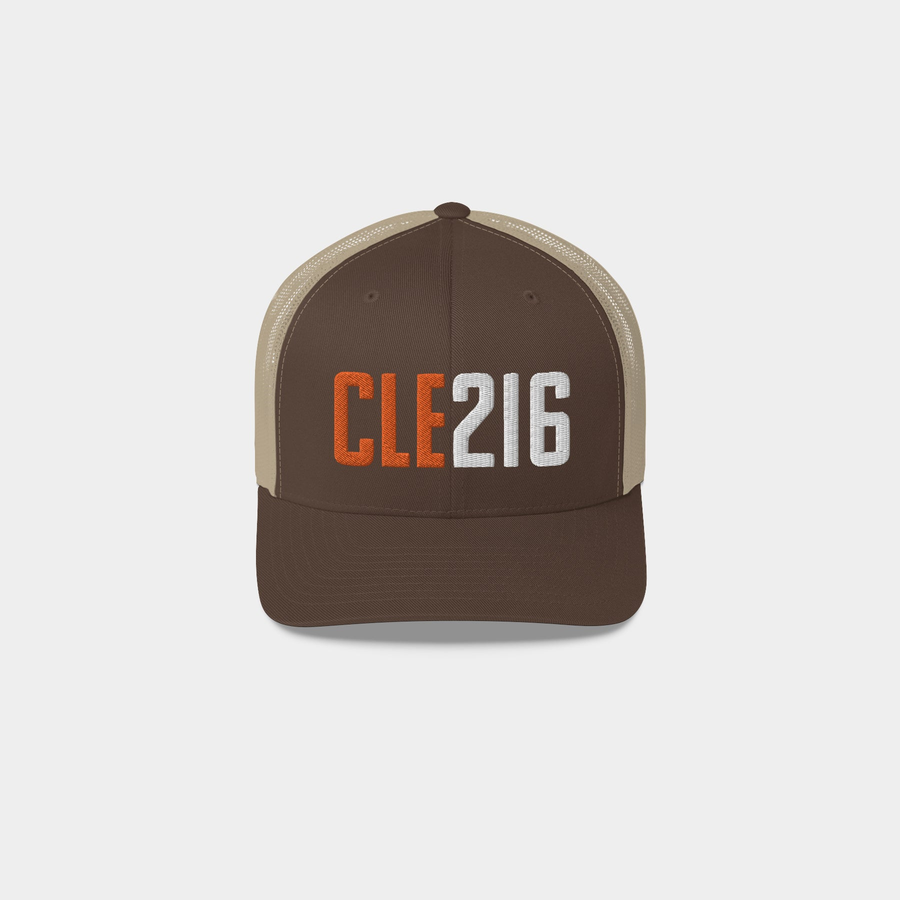 CLE216 Retro Trucker Hat, Brown