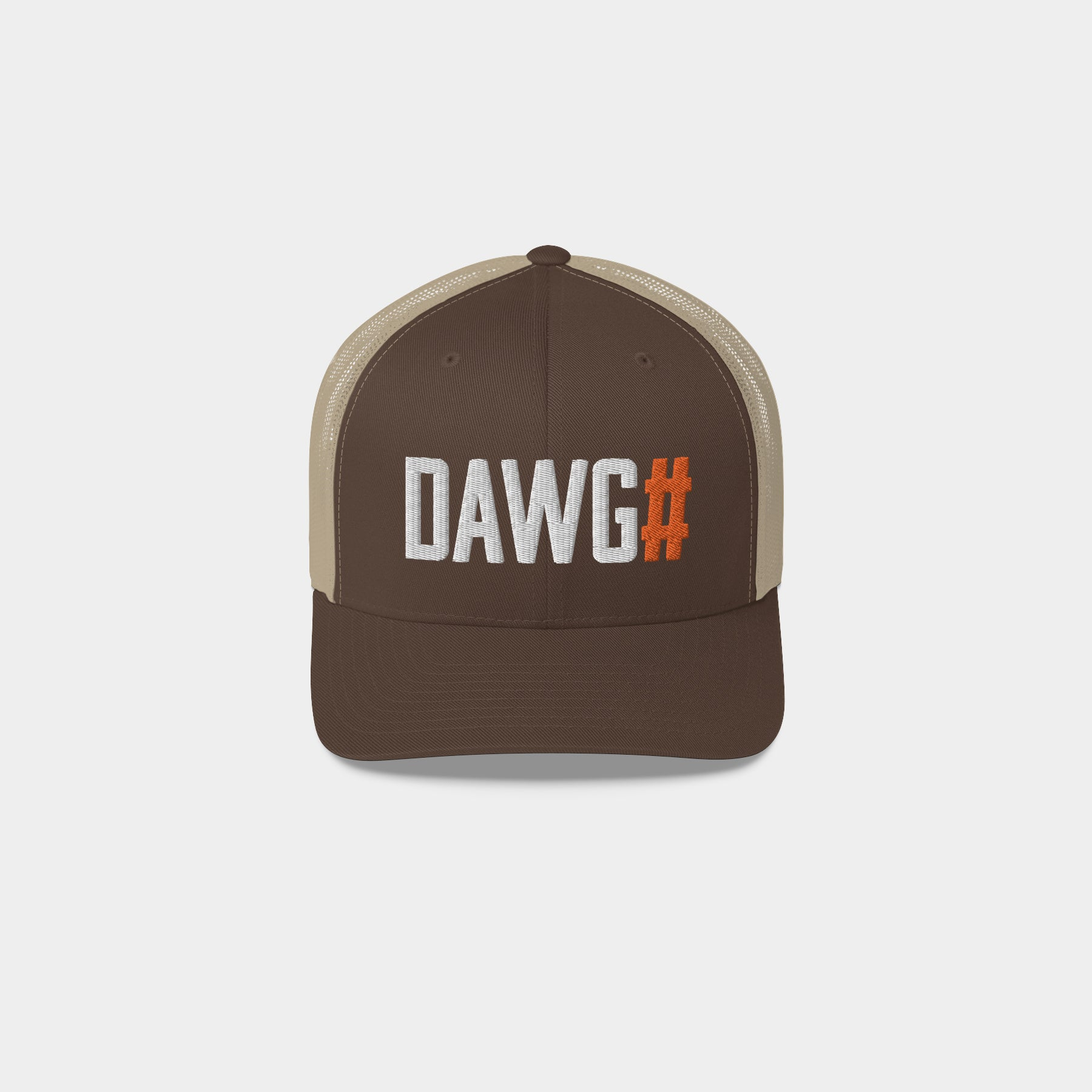 DAWG# Retro Trucker Hat, Brown