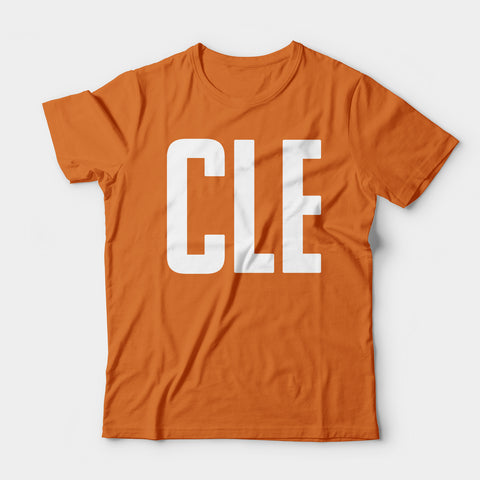 CLE Tee, Throwback Orange