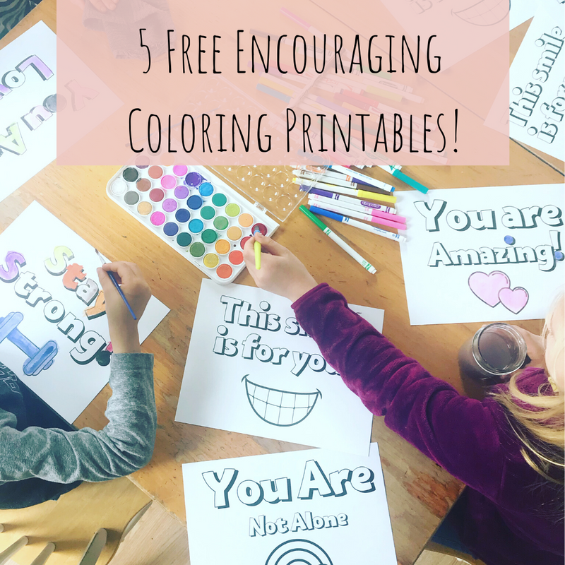 5 Free Encouraging Coloring Pages!
